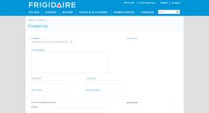Contact Us Frigidaire